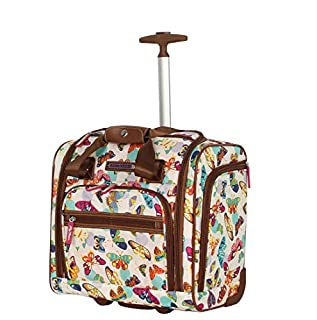 Lily Bloom Designer 15 Inch Wheeled Underseat Carry On Bag for Women