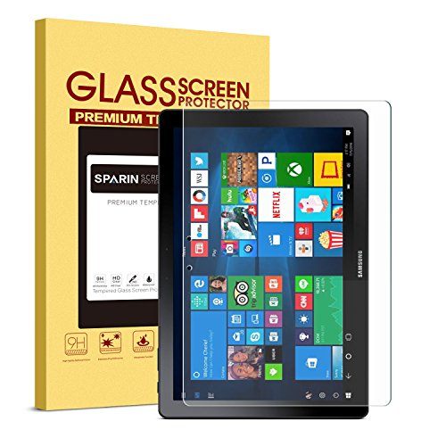 SPARIN Galaxy Book 12 Screen Protector, Anti-Scratch 9H Hardness HD Clear Tempered Glass Screen Protector for Samsung Galaxy Book 12, New Version