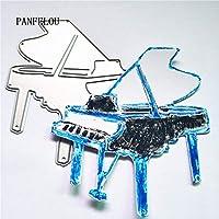ピアノミュージカルスクラップブッキングDIYクリスマスウェディングアルバムカード紙ダイメタルクラフトステンシルパンチカットダイカット