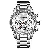 Herren Uhren Quartz 30 M Wasserdichtes, Lässige Chronograph Uhren, Business Uhren Kalender, Männer...