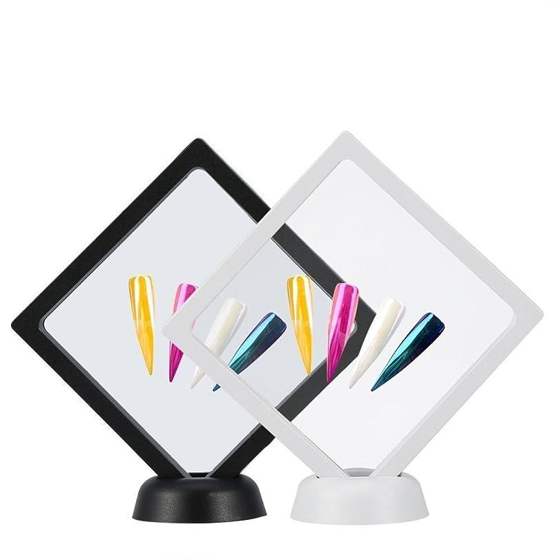 願うミリメーター音楽家Yosoo 2個入り ネイルチップ ディスプレイ スタンド マニキュア ネイルサンプル ホルダー ネイルカラーチャート ネイルテンプレート ネイルケア ネイルアートツール 組立て式 白+黒 展示用 自宅 サロン?