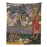 Arazzo da parete per pittura, arte moderna, arazzo da parete classico, decorazione per la casa, per camera da letto, telo da spiaggia (Gauguin, 149,9 x 200,7 cm)