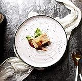 Piatto rotondo di ceramica macchiato Piatto di insalata domestico Piatto caldo di verdure Piatto...