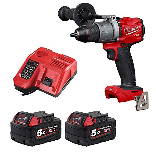 Milwaukee M18FPD2-0 18v Li-ion GEN3 Fuel Brushless Percussion Combi Drill 2x5Ah
