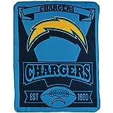 BSI Chargers Marquee Established Design Lightweight 50x60 Fleece Throw Blanket Football
