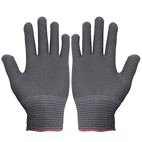 SASDA Men Women Work Gloves Knit Labor Protection Gloves Breathable Anti-skid Nylon Mittens Ultra Thin Gardening Gloves Unisex 1 Pairs,grey