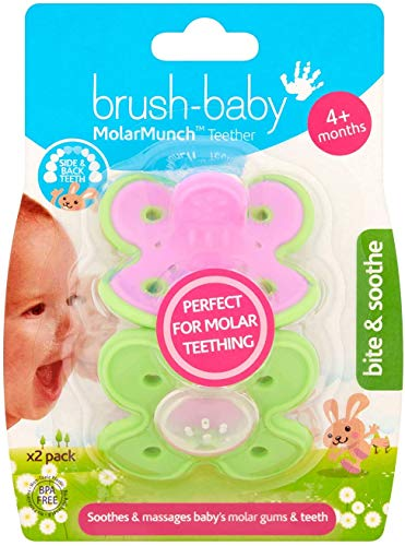 Brush-Baby MolarMunch Teether (4+ Months) for The Tough Stage of Molar Teething....