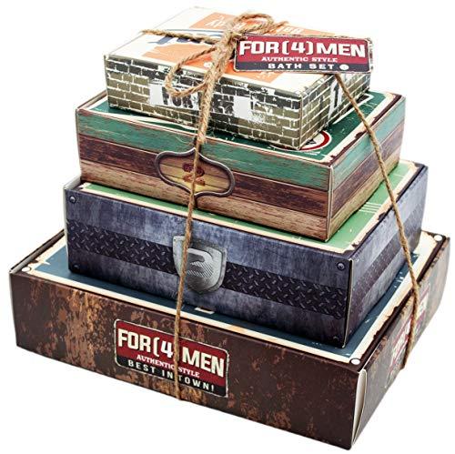 Adventskalender für Männer - Wochenkalender - Hochwertige Körperpflege in 4 Geschenkboxen für Ihn - mit zusätzlicher Überraschung von OnShop24