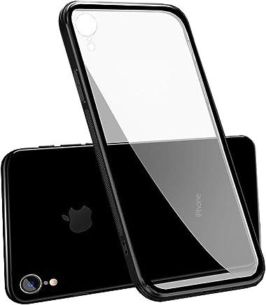 c6b0bda16b5 LAYJOY Funda iPhone XR, Ligera Carcasa Silicona Suave Negro TPU Bumper y  Transparente Cristal Templado Case de Protectora Anti-Golpes, Anti-Ara?azos  Cover ...