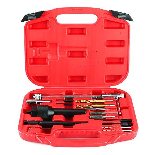 Removedor de bujías incandescentes, 16 piezas dañadas 0.3in 0.4in Removedor de bujías incandescentes Kit de herramientas de extracción portátil para culatas de cilindro