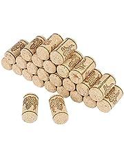 Ladieshow Tapones de Corcho Natural, 100 Tapones Rectos de Corcho de Vino, corchos Naturales para la elaboración de Vino de Botellas de Cerveza o decoración de Bricolaje, 22 x 44 mm