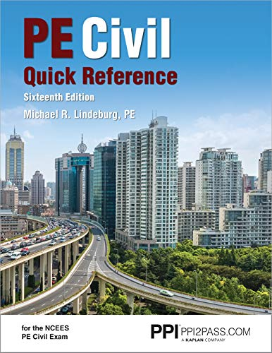 PPI PE Civil Quick Reference, 16th Edition – A Comprehensive Reference Guide for the NCEES PE Civi