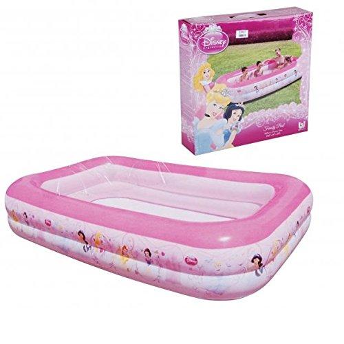 Piscine Gonflable Princesse Rectangle Enfant - 269x175x51 - Rose - 725
