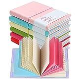 Shulaner Mini Cuaderno Extra Small Cute Notebook Molang Smiley Diario Pack de 6