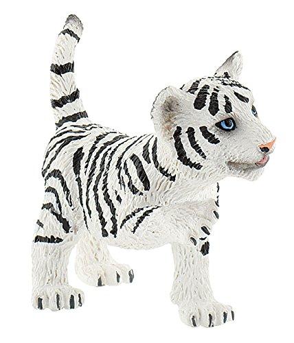 Bullyland 63688 - Spielfigur, Tigerjunges, ca. 5,5 cm, weiß
