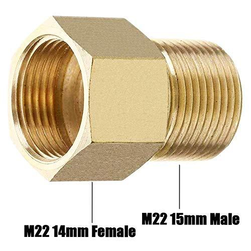 Stone Banks Accoppiatore per idropulitrice ad Alta Pressione, metrico M22 15 mm Maschio a M22 14 mm Femmina connettore Filettatura Interna Tubo Adattatore