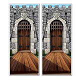 Beistle Castle Door Cover, 30' x 6', Multicolor