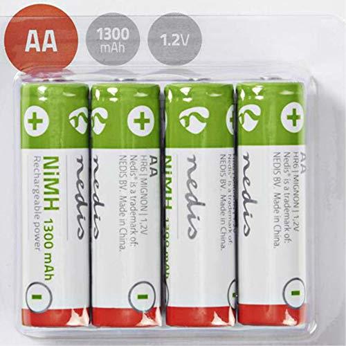 TronicXL 4 Stück Akku AA 1.2V 1300mAh für Telefon Mobilteil Siemens Gigaset 4000 Comfort Classic 3000 700K T-Sinus