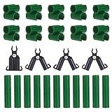 PandaHall Supporto per Piante Rampicanti, 40 pz Clip di Connettore Traliccio Regolabile per Pianta 3 Diversi Tipi per Esterno Pali per Piante Tubi di Collegamento Supporti
