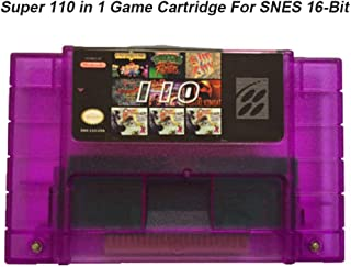 Multi Cart 110 in 1 Super NES Cartridge with SAVE OPTIONS