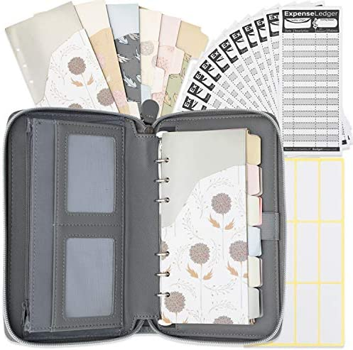 All in One Cash Envelopes Wallet 12 Budget Envelopes Budget Sheets with Cell Phone Pouch by product image