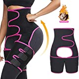 ►SWEATING 3 TIMES-- Belt and thigh belt combination, reduce excess moisture.Makes you sweat 3 times more than ever before. Get rid of stubborn inner thigh and waist fat by shedding excess water weight, Make your legs and waist will look slimmer and t...