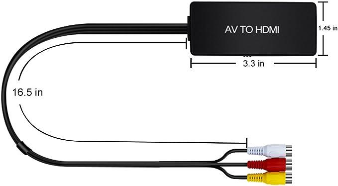 Zubehr Video-Formatwandler Cinch zu HDMI Adapter AV zu HDMI ...