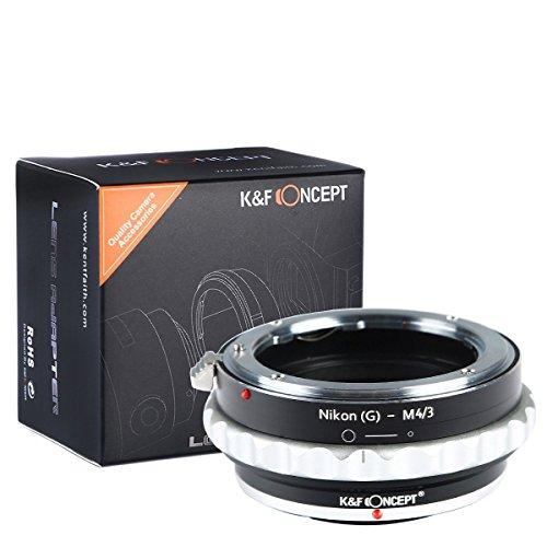 K&F Concept Nikon AI(G)-M4/3 Objektiv Adapter mit Blendenring für Nikon G AF-S F Objektiv auf M4/3 MFT LUMIX DMC-GH1 GH2 GH3 GX7 G1 GF1 GX1