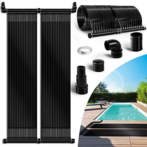 tillvex Pool Solarkollektor Set 76 x 480 cm | Solarheizung umweltfreundliches Erhitzen | Poolheizung Komplettset | Solarmatte | Sonnenkollektor für Warmwasser