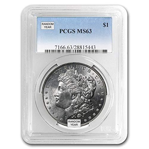 1878-1904 Morgan Dollar MS63 Random Date $1 MS-63 PCGS