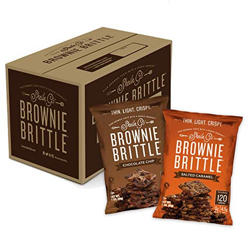 Sheila G#039s Brownie Brittle 1oz Variety Pack Low Calorie Sweets amp Treats Dessert Healthy Chocolate Thin Sweet Crispy SnackRich Brownie Taste with a Cookie Crunch 1oz Bag Pack of 20