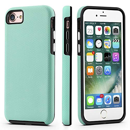 CellEver Dual Guard Protective Cover Compatible with iPhone SE 2020 Case/iPhone 7 Case/iPhone 8 Case, Shock-Absorbing Scratch-Resistant Rugged Drop Protection Cover (Mint)