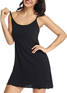 Cami Full Slip Dress for Women Lounge Chemise Sleepwear Nightgowns with Built in Bra