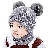Moda, niños pequeños Winter Keep Warm Hat Conjuntos de Bufandas, niños...