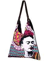 Akitai Frida Kahlo Purple Mandala Canvas Print Women Purse - Tote - Handbag - Bag - Frida Khalo Accesories Merchandise Costume