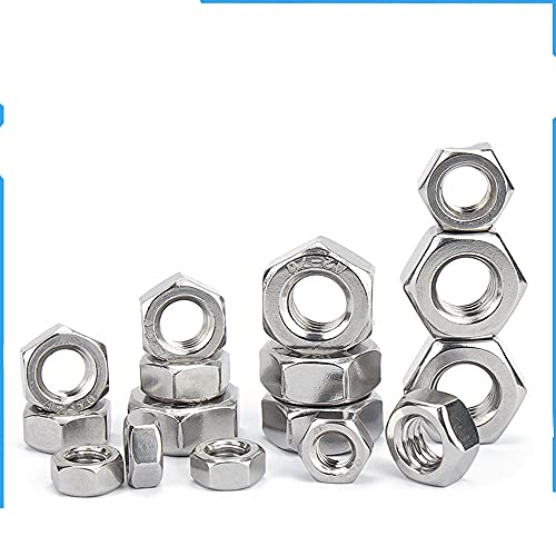 Tuerca hexagonal en pulgadas Contratuerca 2-56 4-40 6-32 8-32 10-24 10-32 12-24 3/16 5/16 1/4 3/8 7/16 1/2 5/8 3/4 7/16 Acero inoxidable 304-3 16 24 20 piezas