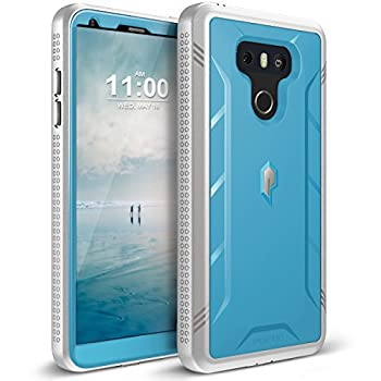 Poetic Revolution Series Case Designed for LG G6 / G6 Plus  2017  Full-Body Rugged Dual-Layer Shockproof Protective Cover with Kickstand and Built-in-Screen Protector Blue/Gray
