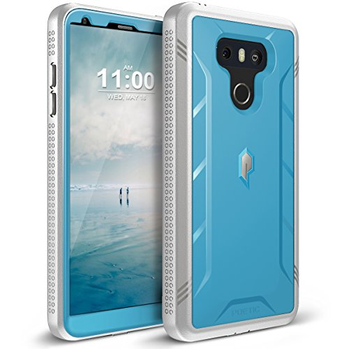 LG G6 Rugged Case, LG G6 Plus Rugged Case Poetic Revolution [360 Degree Protection] [Built-in-Screen Protector] Full-Body Rugged Heavy Duty Case for LG G6 /G6 Plus (2017) - Blue/Gray