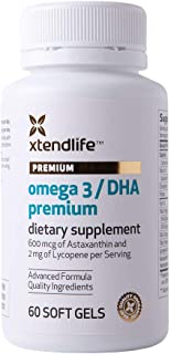 Sponsored Ad - Xtend-Life Omega 3 DHA Premium Fish Oil - 100% Pure Natural Fishoil 700mg DHA/Day - Anti Aging and Skin Sup...