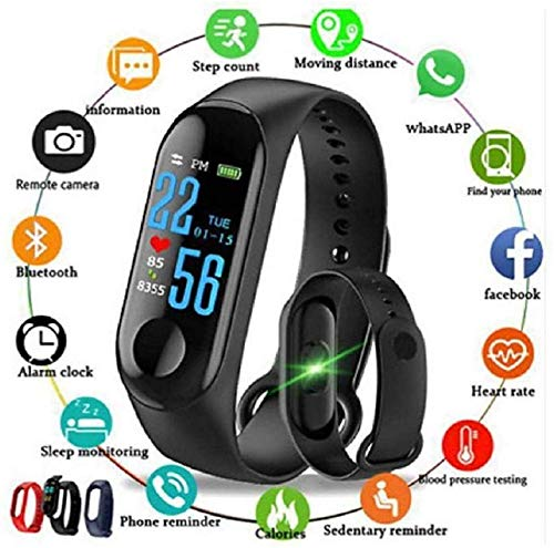 Smart Band Fitness Tracker Watch Heart Rate with Activity Tracker Waterproof Body...