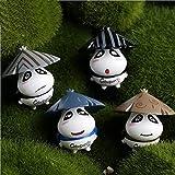 LFYZ Micro Paisaje, 4 Piezas Miniatura Jardín de Hadas Paisaje Mini Casa Muñecas Bonsai Decoración Oso Paquete Conjunto Decoraciones para El Hogar Animales Adornos Estatuillas Bricolaje