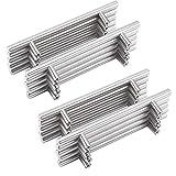 20 tiradores de mueble de cocina de acero cepillado, barra de cocina, puerta de acero inoxidable, diámetro de 12 mm (hule centers: 160 mm)