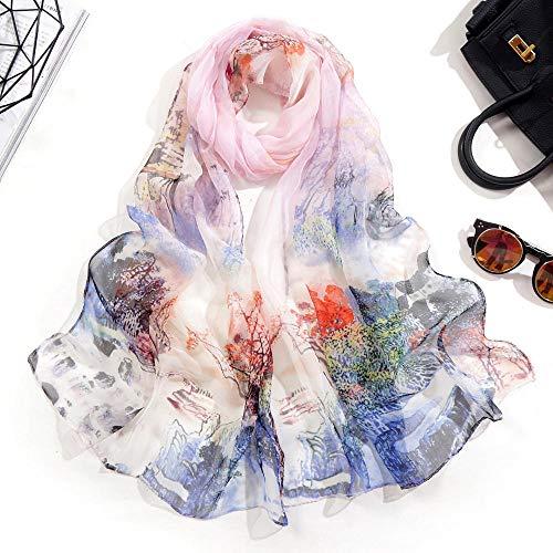 Tony plate Pañuelo De Seda De Pelo De Satén para Mujer Bufandas con Estampado De Cabeza Diadema Femenina Bufandas De Cuello para Mujer Bufanda De Primavera-14