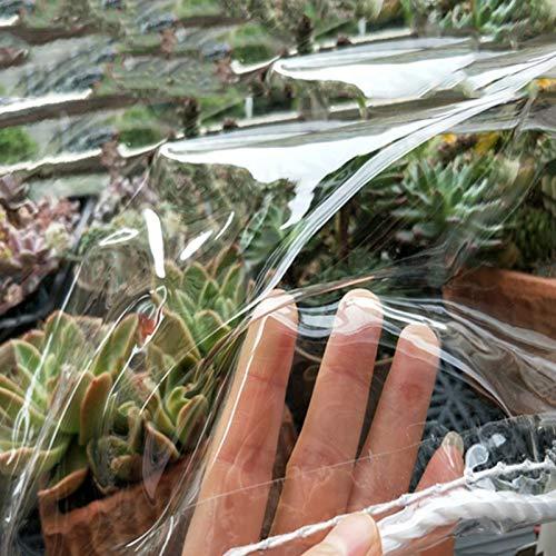 CGF- Transparente Lona Transparente Cubierta de Lona Resistente Lona Impermeable PVC de 0,45 mm de Espesor, Lona con Ojales Multiusos para jardinería Camping Viajes