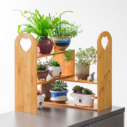 QFF Étagères en fleurs intérieures bois massif étagère en bois multicouches balcon salon étagère multi-fleur