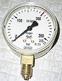 WIKA Manómetro de oxígeno de precisión clase 2,5, diámetro 63 mm, indicador 0,315/400 bar.