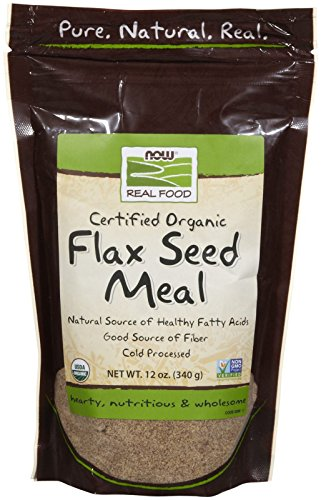 NOW Foods Organic Flax Seed Meal, 12 oz