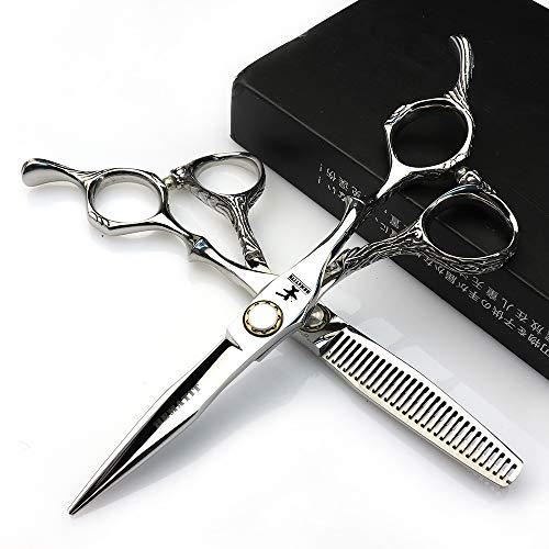 HEMATITE Tijeras japonesas de acero 440C (2 pares de tijeras para peluquería, 6 pulgadas)