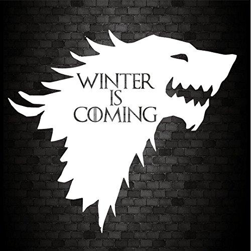 "Autoaufkleber für die Stoßstange, ""Winter Is Coming"" (House of Stark, aus Game of Thrones), JDM, PVC / Vinyl"