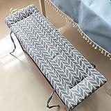 Xpnit - Cuscino per panca da giardino a 2 3 posti, in cotone, per sala da pranzo, cucina, 100/120 cm, per interni ed esterni (100 x 30 cm, grigio)